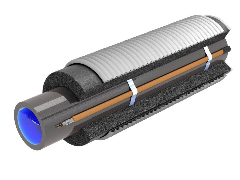 утепление трубы саморегулирующим кабелем